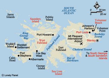 FIH Group Plc About The Falkland Islands - Falkland islands map